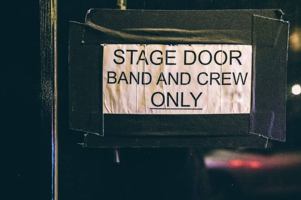 How long does it take to set up a concert stage?